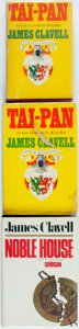 Books:Mystery & Detective Fiction, James Clavell. Group of Three Novels in the Asian Saga. Includestwo first editions and a book club edition. Various publish...(Total: 3 Items)