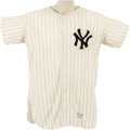 Baseball Collectibles:Uniforms, 1955 Andy Carey Game Worn Jersey. The fleet-footed third baseman led the American League in triples the season he made use ...