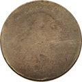 Large Cents: , 1793 Chain 1C AMERI Fair 2 NGC. S-1, R.4. This is a well wornexample with just enough remaining detail to identify the rev...