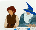 Animation Art:Production Cel, Lord of the Rings Gandalf and Frodo Production Cel Setup andDrawing (United Artists, 1978).... (Total: 3 Items)