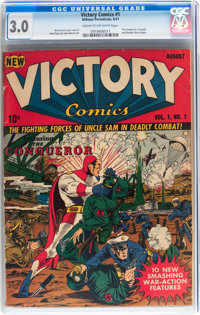 Victory Comics #1 (Hillman Publications, 1941) CGC GD/VG 3.0 Cream to off-white pages