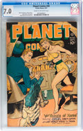 Golden Age (1938-1955):Science Fiction, Planet Comics #50 (Fiction House, 1947) CGC FN/VF 7.0 Cream tooff-white pages....