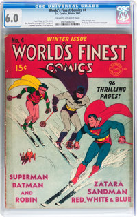 World's Finest Comics #4 (DC, 1941) CGC FN 6.0 Cream to off-white pages