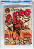 Golden Age (1938-1955):Superhero, Captain Aero Comics #9 (Holyoke Publications, 1942) CGC VG 4.0 Cream to off-white pages....