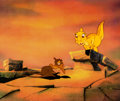 Animation Art:Production Cel, The Land Before Time Ducky and Petrie Production Cel Setup(Universal/Don Bluth, 1988)....