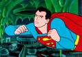 Animation Art:Production Cel, Adventures of Superboy Production Cel Setup and Background(Filmation, 1966).... (Total: 4 Items)