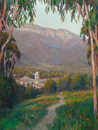 WILLIAM DORSEY (American, b. 1942) Pathway to Ojai Oil on canvas 40 x 30 inches (101.6 x 76.2 cm)