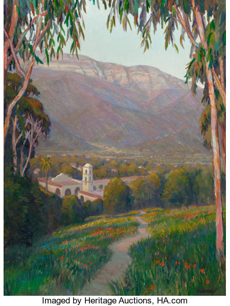 WILLIAM DORSEY (American, b. 1942) Pathway to Ojai Oil on canvas 40 x 30 inches (101.6 x 76.2 cm) Signed lower right...
