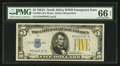 Small Size:World War II Emergency Notes, Fr. 2307 $5 1934A North Africa Silver Certificate. PMG GemUncirculated 66 EPQ.. ...