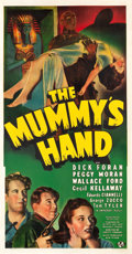 "Movie Posters:Horror, The Mummy's Hand (Universal, 1940). Three Sheet (42"" X 80.5"").. ..."