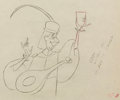 Animation Art:Production Drawing, Sleeping Beauty Lackey the Lute Playing Minstrel ProductionDrawing (Walt Disney, 1959)....