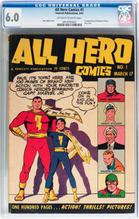 All Hero Comics #1 (Fawcett Publications, 1943) CGC FN 6.0 Off-white to white pages