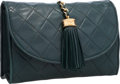 Luxury Accessories:Bags, Chanel Green Quilted Lambskin Leather Clutch. ...