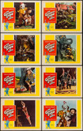 """Movie Posters:Drama, The Greatest Show on Earth (Paramount, R-1960). Lobby Card Set of 8 (11"""" X 14""""). Drama.. ... (Total: 8 Items)"""