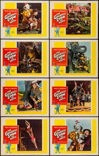 "The Greatest Show on Earth (Paramount, R-1960). Lobby Card Set of 8 (11"" X 14""). Drama. ... (Total: 8 Items)"