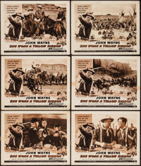 "She Wore a Yellow Ribbon (RKO, R-1954). Lobby Cards (6) (11"" X 14""). Western. ... (Total: 6 Items)"