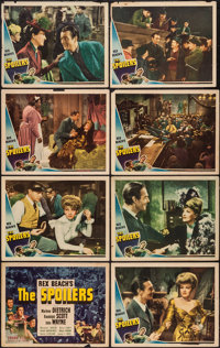 """The Spoilers (Universal, 1942). Lobby Card Set of 8 (11"""" X 14""""). Western. ... (Total: 8 Items)"""