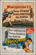 "Movie Posters:Western, Winchester '73/Criss Cross Combo (Universal International, R-1958). One Sheet (27"" X 41""). Western.. ..."
