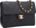 Luxury Accessories:Bags, Chanel Black Quilted Lambskin Leather Small Flap Bag with GoldHardware. ...
