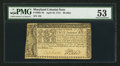 Colonial Notes:Maryland, Maryland April 10, 1774 $8 PMG About Uncirculated 53.. ...