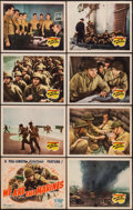 "Movie Posters:War, We Are the Marines (20th Century Fox, 1942). Lobby Card Set of 8(11"" X 14""). War.. ... (Total: 8 Items)"