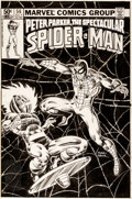 Original Comic Art:Covers, Frank Miller and Bob Wiacek Spectacular Spider-Man #56 CoverOriginal Art (Marvel, 1981)....