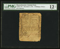 Colonial Notes:Massachusetts, Massachusetts December 7, 1775 3s/4d PMG Fine 12 Net.. ...