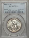 Commemorative Silver: , 1925 50C Vancouver MS65 PCGS. PCGS Population (687/360). NGCCensus: (578/296). Mintage: 14,994. Numismedia Wsl. Price for ...