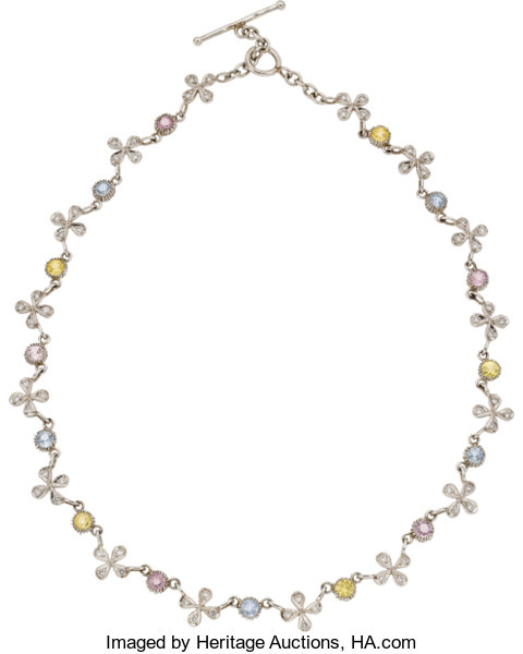 Cathy Waterman Shire Diamond Platinum Necklace