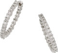 Estate Jewelry:Earrings, Roberto Coin Diamond, White Gold Earrings. ...