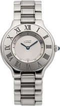 "Estate Jewelry:Watches, Cartier Lady's Stainless Steel ""Must de Cartier 21"" Watch. ..."