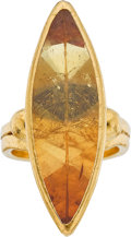 Estate Jewelry:Rings, Gurhan Citrine, Gold Ring. ...