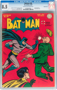 Batman #28 Double Cover (DC, 1945) CGC VF+ 8.5 Cream to off-white pages