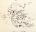 Animation Art:Production Drawing, Disneyland Mr. Toad's Wild Ride Illustration Group (WaltDisney, 1953).... (Total: 3 Original Art)