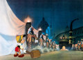 Animation Art:Production Cel, Pinocchio Pinocchio at Tobacco Road Production Cel (WaltDisney, 1940)....