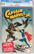 Golden Age (1938-1955):Superhero, Captain Marvel Jr. #18 (Fawcett Publications, 1944) CGC VF+ 8.5 Off-white pages....
