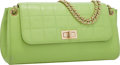 Luxury Accessories:Bags, Chanel Green Square Quilted Lambskin Leather Medium Flap Bag withGold Hardware . . ...