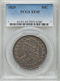 Bust Half Dollars: , 1829 50C XF45 PCGS. PCGS Population (255/897). NGC Census:(162/854). Mintage: 3,712,156. Numismedia Wsl. Price for problem...