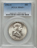 Franklin Half Dollars, 1953-S 50C MS65+ PCGS. PCGS Population (4708/625). NGC Census:(2841/544). Mintage: 4,148,000. Numismedia Wsl. Price for pr...