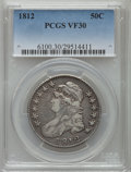 Bust Half Dollars: , 1812 50C Large 8 VF30 PCGS. PCGS Population (63/869). NGC Census:(24/582). Mintage: 1,628,059. Numismedia Wsl. Price for p...