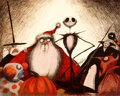 Animation Art:Seriograph, Tim Burton's Nightmare Before Christmas LimitedEdition Serigraph #69/250 (Disney/Angeles Press, 1993)....