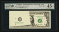 Error Notes:Foldovers, Fr. 1930-B $1 2003A Federal Reserve Note. PMG Choice Extremely Fine45 EPQ.. ...