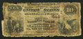 National Bank Notes:Pennsylvania, Pottsville, PA - $10 1882 Brown Back Fr. 480 The Miners' NB Ch. # 649. ...