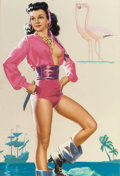Pin-up and Glamour Art, K.O. (KNUTE) MUNSON (American, 20th Century). Pirate'sBooty. Pastel on board. 24.75 x 16.5 in. (sight). Signed lowerle...