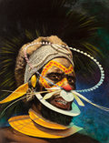 Pulp, Pulp-like, Digests, and Paperback Art, AMERICAN ARTIST (20th Century). African Headdress, AfricanAdventure magazine cover, July 1956. Oil on board. 15 x 11.5...