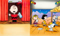 Animation Art:Production Cel, A Charlie Brown Christmas Charlie Brown, Snoopy, Linus, andLucy Golden Book Production Cel Setup (Bill Melendez/Simon...(Total: 12 Original Art)