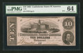 Confederate Notes:1862 Issues, T52 Altered $10 1862 PF-1 Cr. 369.. ...