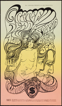 """The Grateful Dead (Bill Graham, 1967). Concert Poster (14 1/8"""" X 24"""") Pre-Concert Style C. Rock and Roll"""