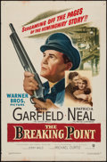"Movie Posters:Crime, The Breaking Point (Warner Brothers, 1950). One Sheet (27"" X 41"").Crime.. ..."