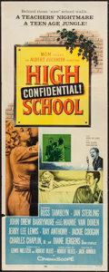 "Movie Posters:Exploitation, High School Confidential (MGM, 1958). Insert (14"" X 36""). Exploitation.. ..."